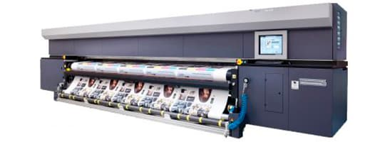 Grosse Druckmaschine für premium Bannerdruck