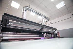 EFI Vutek Druckmaschine im Einsatz