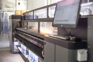 Detailaufnahme HP Latex Drucker