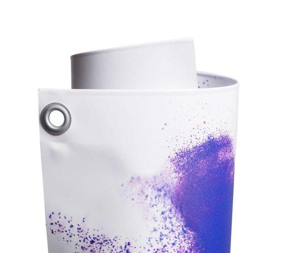 Eingerolltes, farbig bedrucktes PVC Blockout 650g Material mit Oese