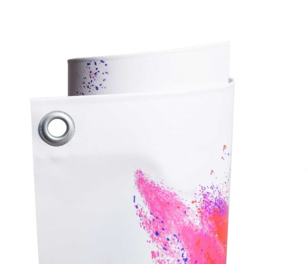 Eingerolltes, farbig bedrucktes PVC Frontlit 510g Material umweltfreundlicher Latexdruck mit Oese