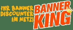 Banner-King.de Logo erinnert an das Logo eines Burger-Restaurants