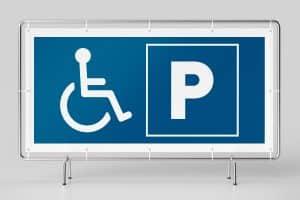 Banner für Hinweis Parkplaz