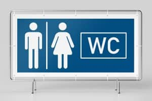 WC Banner: Hinweis für WC