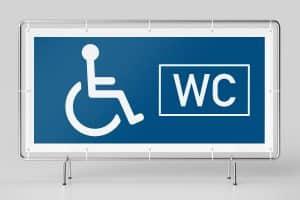 Banner WC Rollstuhlfahrer