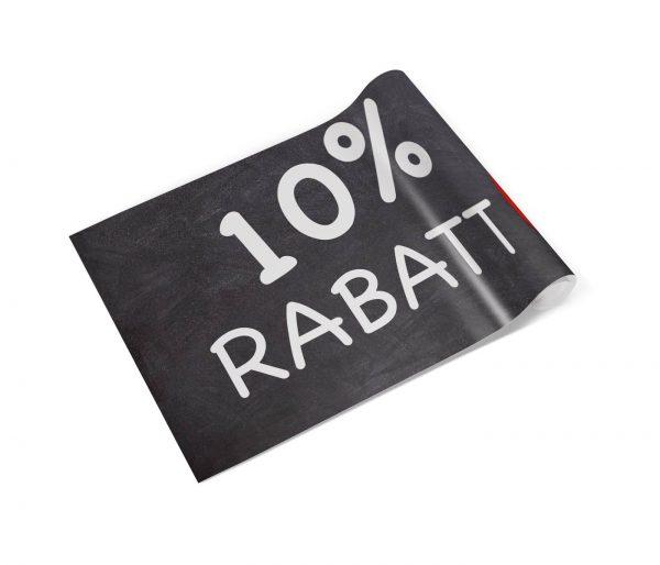 10 Prozent Rabatt Banner