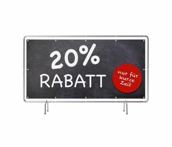 20 Prozent Rabatt Banner