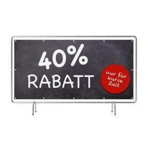 40 Prozent Rabatt Banner