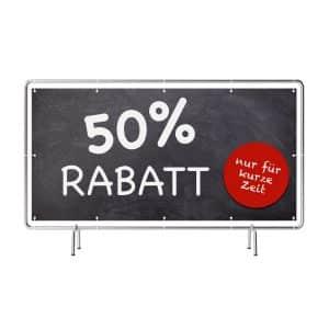 50 Prozent Rabatt Banner