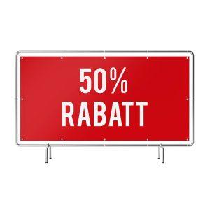 50 Prozent Rabatt Banner rot