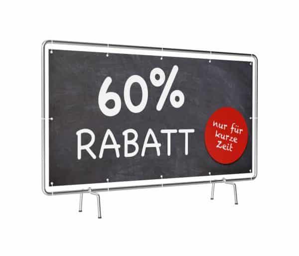 60 Prozent Rabatt Banner