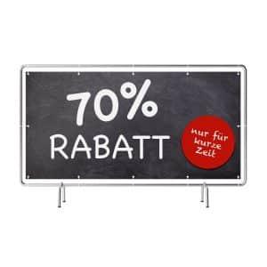 70 Prozent Rabatt Banner