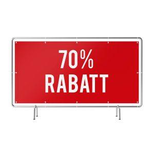 70 Prozent Rabatt Banner rot