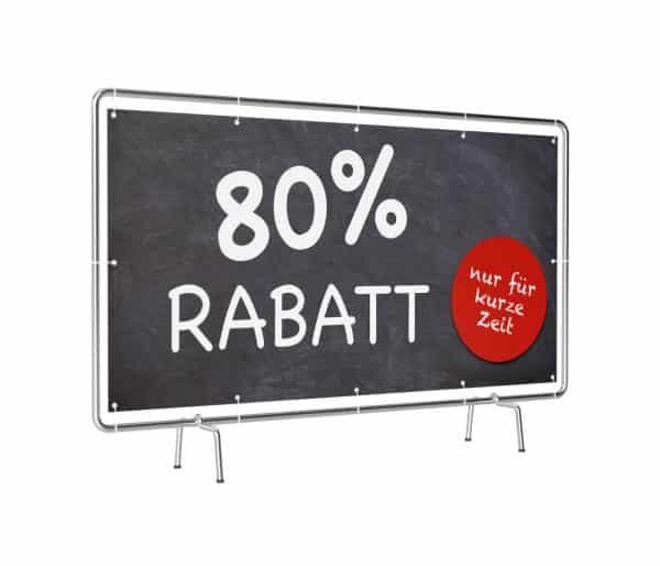 80 Prozent Rabatt Banner