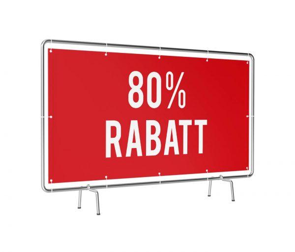80 Prozent Rabatt Banner rot