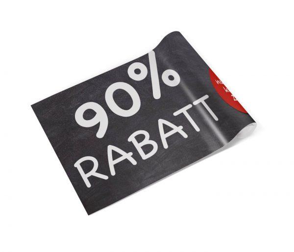 90 Prozent Rabatt Banner