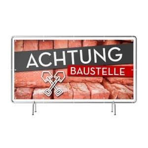 Achtung Baustelle Banner