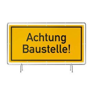 Achtung Baustelle Banner gelb