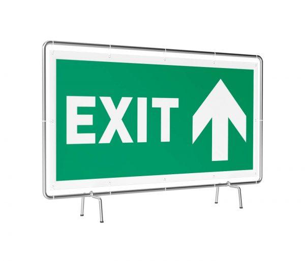 Exit geradeaus Banner