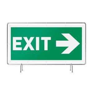 Exit rechts Banner