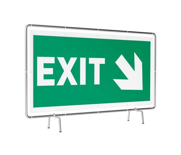 Exit rechts unten Banner