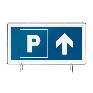 Parken geradeaus Banner