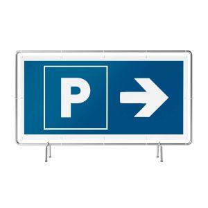 Parken rechts Banner