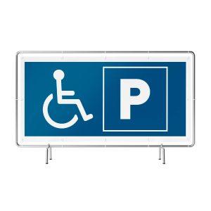 Parken Rollstuhl Banner