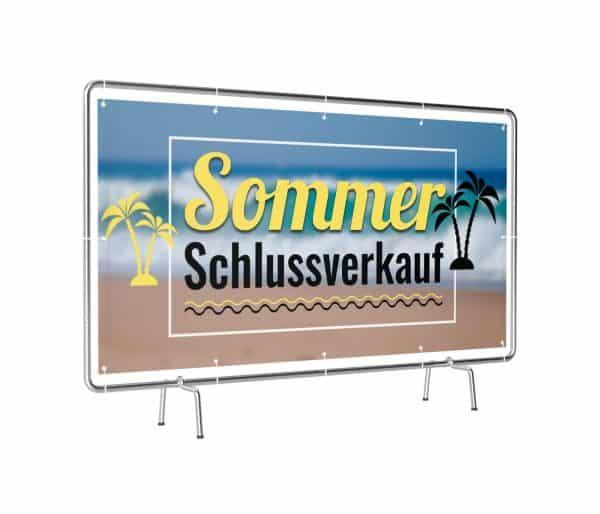 Banner mit Motiv Sommer Schlussverkauf in verschiedenen Groeßen fertig Gedruckt, leicht gedreht