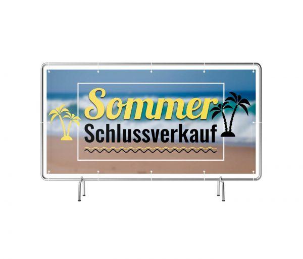 Banner mit Motiv Sommer Schlussverkauf in verschiedenen Groeßen fertig Gedruckt, frontal
