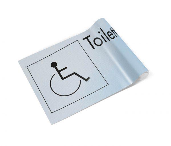 Toilette Abstrakt Rollstuhl Banner