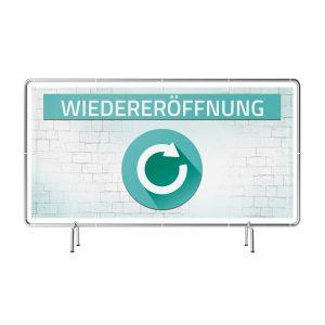 Wiedereröffnung Banner