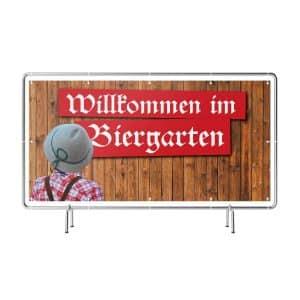 Willkommen im Biergarten Banner