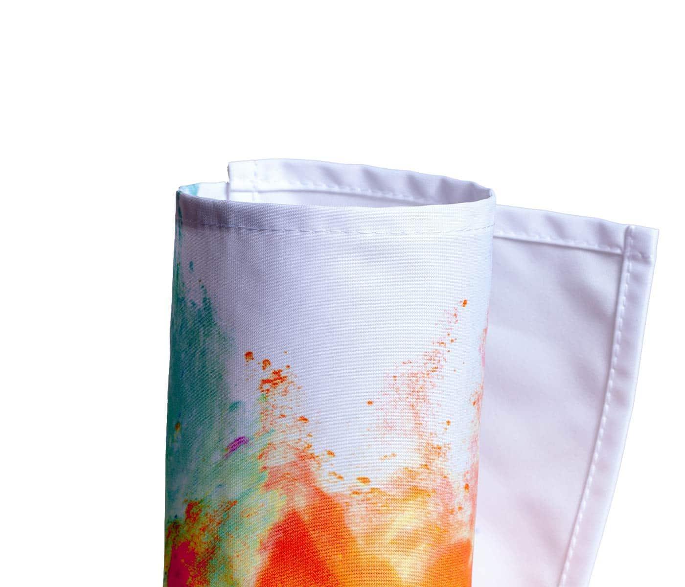 Eingerolltes, farbig bedrucktes Softimage Dekostoff 210g Material