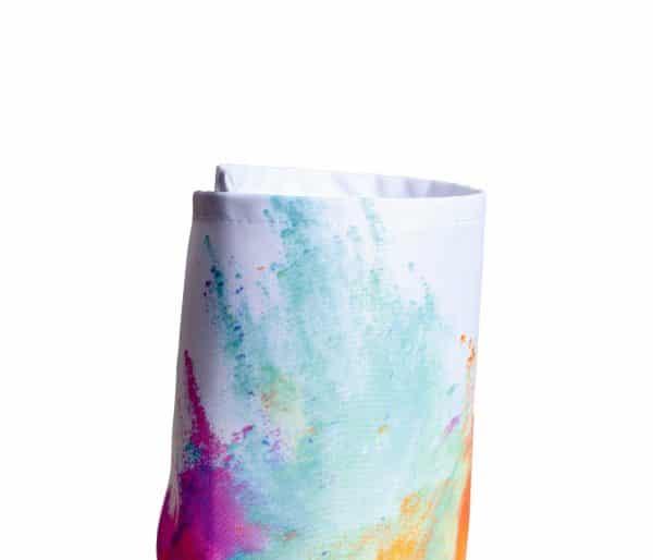 Eingerolltes, farbig bedrucktes Textilbanner Dekostoff 210g Material
