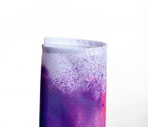 Eingerolltes, farbig bedrucktes Textilbanner 115g Material