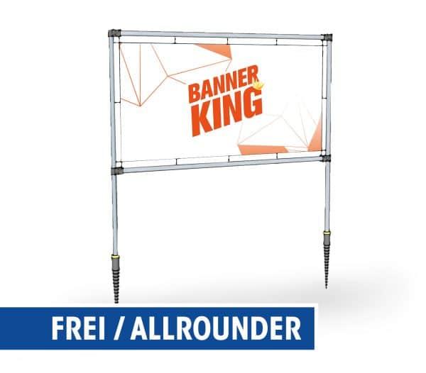 Freistehender Banner-Rahmen - Allrounder