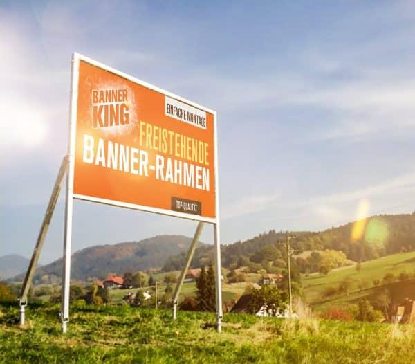 Freistehender Banner-Rahmen - Premium