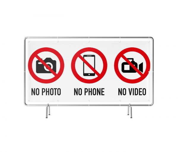 Foto- und Videoverbot