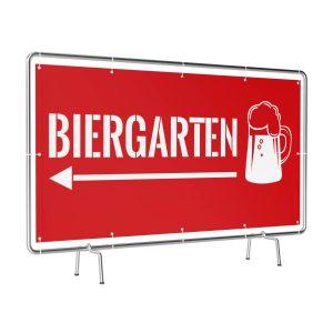 Biergarten links rot