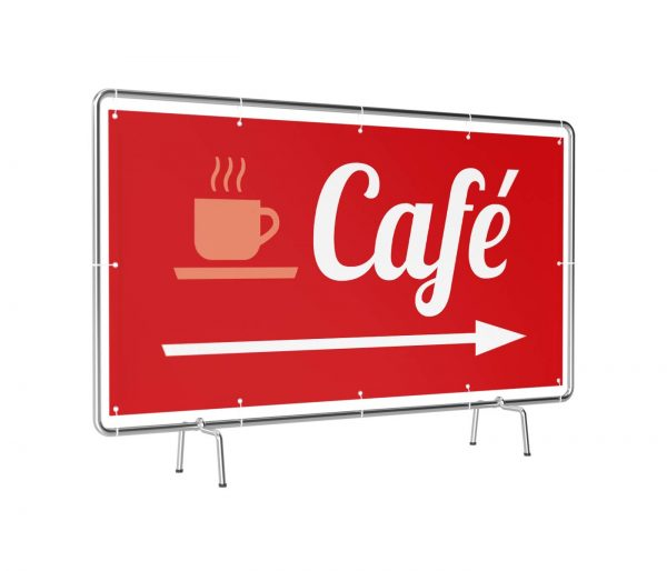 Café rechts rot