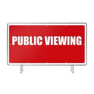 Public Viewing rot