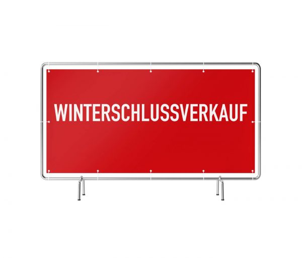 Winterschlussverkauf rot