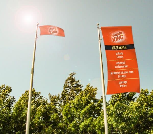 Fahne für Masten mit Ausleger