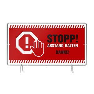 Stop ABSTAND HALTEN! - Danke! Banner