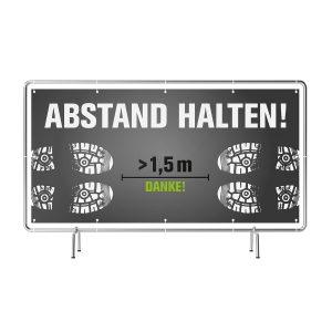 ABSTAND HALTEN! Banner